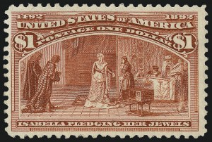 Sale Number 1026, Lot Number 1319, 1893 Columbian Issue (Scott 230-245)$1.00 Columbian (241), $1.00 Columbian (241)