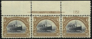 Sale Number 1026, Lot Number 1361, Trans-Mississippi and Pan-American Issues (Scott 285-299)10c Pan-American (299), 10c Pan-American (299)