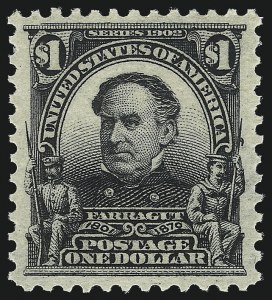 Sale Number 1026, Lot Number 1368, 1902-08 Issue, Louisiana Purchase and Jamestown Issues (Scott 300-330)$1.00 Black (311), $1.00 Black (311)