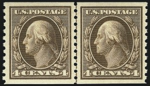 Sale Number 1026, Lot Number 1419, 1912-22 Issues (Scott 421-493)4c Brown, Coil (446), 4c Brown, Coil (446)