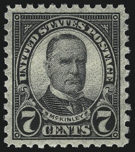 Sale Number 1026, Lot Number 1471, 1922 and Later Issues (Scott 554-1689f)7c Black, Perf 10 (588), 7c Black, Perf 10 (588)