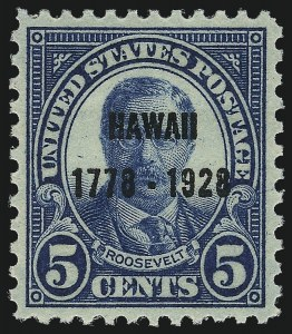 Sale Number 1026, Lot Number 1479, 1922 and Later Issues (Scott 554-1689f)5c Hawaii Ovpt. (648), 5c Hawaii Ovpt. (648)