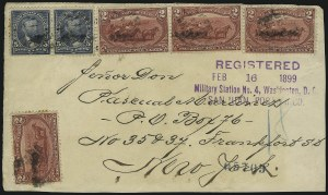 Sale Number 1026, Lot Number 1865, Bank Note thru Louisiana Purchase Issues on Cover2c Trans-Mississippi (286), 2c Trans-Mississippi (286)