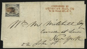 Sale Number 1026, Lot Number 1914, Carriers and Locals: Stamps and CoversAmerican Letter Mail Co., 5c Black (5L1), American Letter Mail Co., 5c Black (5L1)