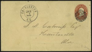 Sale Number 1026, Lot Number 1923, Civil War and Confederate States thru Hawaii: Stamps and CoversCharleston S.C. Jan. 1, 1861, Charleston S.C. Jan. 1, 1861