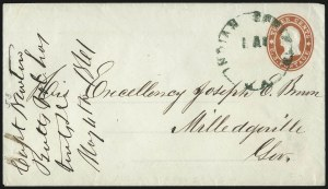 Sale Number 1026, Lot Number 1925, Civil War and Confederate States thru Hawaii: Stamps and CoversIndian Springs Ga. May? (1861), Indian Springs Ga. May? (1861)