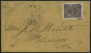 Sale Number 1026, Lot Number 1930, Civil War and Confederate States thru Hawaii: Stamps and CoversAthens Ga., 5c Purple (5X1), Athens Ga., 5c Purple (5X1)
