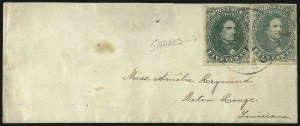 Sale Number 1026, Lot Number 1943, Civil War and Confederate States thru Hawaii: Stamps and Covers5c Green (1), 5c Green (1)