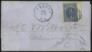 Sale Number 1026, Lot Number 1944, Civil War and Confederate States thru Hawaii: Stamps and Covers10c Blue, Paterson (2), 10c Blue, Paterson (2)