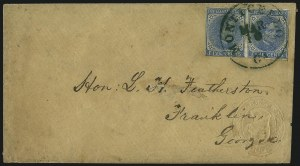 Sale Number 1026, Lot Number 1946, Civil War and Confederate States thru Hawaii: Stamps and Covers5c Blue, Local (7), 5c Blue, Local (7)
