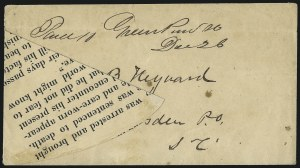 Sale Number 1026, Lot Number 1951, Civil War and Confederate States thru Hawaii: Stamps and CoversConfederate Covers, Confederate Covers
