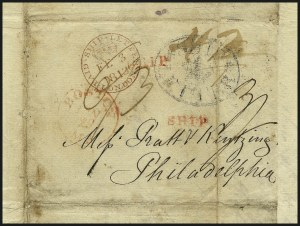 Sale Number 1026, Lot Number 1955, U.S. Cover Collections and Group LotsTransatlantic Mails, Stampless Covers, 1812-60's, Transatlantic Mails, Stampless Covers, 1812-60's