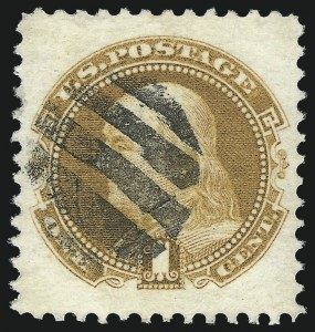 Sale Number 1027, Lot Number 1, 1869 Pictorial Issue (Scott 112-122)1c Buff (112), 1c Buff (112)