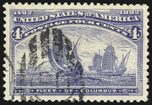 Sale Number 1027, Lot Number 116, Columbian Issue (Scott 230-245)4c Columbian (233), 4c Columbian (233)