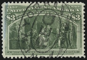 Sale Number 1027, Lot Number 126, Columbian Issue (Scott 230-245)$3.00 Columbian (243), $3.00 Columbian (243)