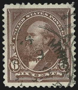 Sale Number 1027, Lot Number 135, 1894 Unwatermarked Bureau Issue (Scott 246-263)6c Dull Brown (256), 6c Dull Brown (256)