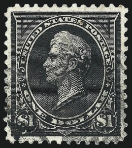Sale Number 1027, Lot Number 153, 1895 Watermarked Bureau Issue (Scott 264-278)$1.00 Black, Ty. I (276), $1.00 Black, Ty. I (276)