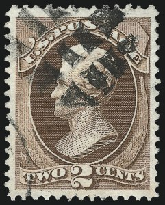 Sale Number 1027, Lot Number 44, 1870-71 National Bank Note Co. I Grills (Scott 134A-141A)2c Red Brown, I. Grill (135A), 2c Red Brown, I. Grill (135A)