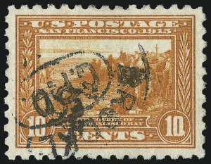 Sale Number 1028, Lot Number 369, Panama-Pacific Issue (Scott 397-404)10c Panama-Pacific, Perf 10 (404), 10c Panama-Pacific, Perf 10 (404)