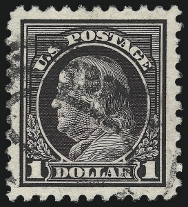 Sale Number 1028, Lot Number 409, Perf 11 Double-Line Watermark Issue, 1916-17 Perf 10 Unwatermarked Issue (Scott 461-480)$1.00 Violet Black (478), $1.00 Violet Black (478)