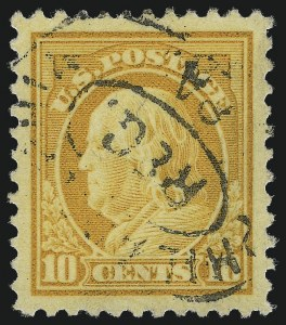 Sale Number 1028, Lot Number 432, 1917-19 Perf 11 Unwatermarked Issue (Scott 498-518b)10c Orange Yellow (510), 10c Orange Yellow (510)