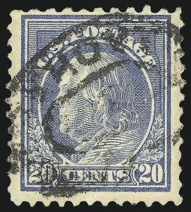 Sale Number 1028, Lot Number 436, 1917-19 Perf 11 Unwatermarked Issue (Scott 498-518b)20c Light Ultramarine, Perf 10 at Top (515d), 20c Light Ultramarine, Perf 10 at Top (515d)