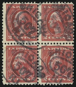 Sale Number 1028, Lot Number 448, 1918-20 Offset Printing Issues (Scott 525-536)2c Carmine, Ty. VII, Double Impression (528Be), 2c Carmine, Ty. VII, Double Impression (528Be)