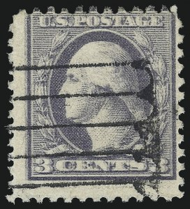 Sale Number 1028, Lot Number 449, 1918-20 Offset Printing Issues (Scott 525-536)3c Violet, Ty. III, Double Impression (529a), 3c Violet, Ty. III, Double Impression (529a)