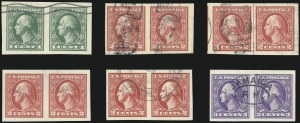 Sale Number 1028, Lot Number 451, 1918-20 Offset Printing Issues (Scott 525-536)1c-3c 1918-20 Offset Issues, Imperforate (531-534A, 535), 1c-3c 1918-20 Offset Issues, Imperforate (531-534A, 535)