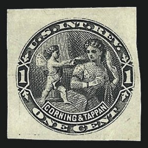 Sale Number 1030, Lot Number 812, Private Die Perfumery StampsCorning & Tappan, 1c Black, Watermarked, Imperforate (RT2d), Corning & Tappan, 1c Black, Watermarked, Imperforate (RT2d)