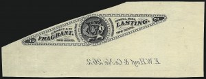 Sale Number 1030, Lot Number 818, Private Die Perfumery StampsE. W. Hoyt & Co., 2c Black, Watermarked, Imperforate (RT8d), E. W. Hoyt & Co., 2c Black, Watermarked, Imperforate (RT8d)
