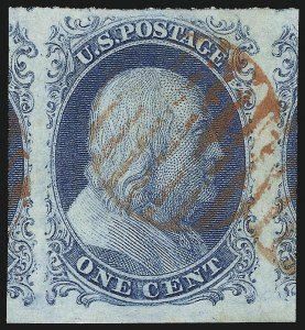 Sale Number 1032, Lot Number 3014, 1c 1851-56 Issue (Scott 5A-9)1c Blue, Ty. II (7), 1c Blue, Ty. II (7)
