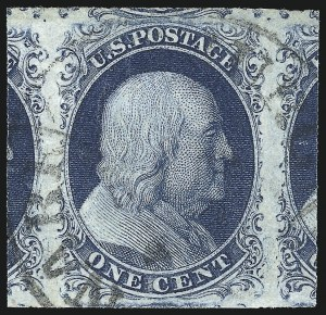 Sale Number 1032, Lot Number 3017, 1c 1851-56 Issue (Scott 5A-9)1c Blue, Ty. II (7), 1c Blue, Ty. II (7)
