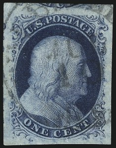 Sale Number 1032, Lot Number 3020, 1c 1851-56 Issue (Scott 5A-9)1c Blue, Ty. IIIa (8A), 1c Blue, Ty. IIIa (8A)