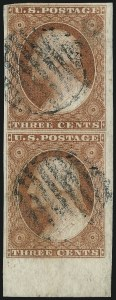 Sale Number 1032, Lot Number 3023, 3c 1851-56 Issue (Scott 10-11A)3c Orange Brown, Ty. I/II (10/10A), 3c Orange Brown, Ty. I/II (10/10A)