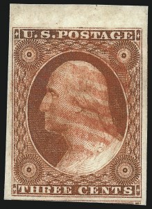 Sale Number 1032, Lot Number 3025, 3c 1851-56 Issue (Scott 10-11A)3c Deep Orange Brown, Ty. II (10A), 3c Deep Orange Brown, Ty. II (10A)