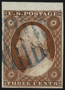 Sale Number 1032, Lot Number 3026, 3c 1851-56 Issue (Scott 10-11A)3c Deep Orange Brown, Ty. II (10A), 3c Deep Orange Brown, Ty. II (10A)