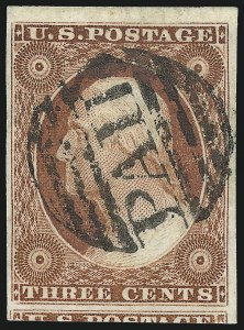 Sale Number 1032, Lot Number 3027, 3c 1851-56 Issue (Scott 10-11A)3c Orange Brown, Ty. II (10A), 3c Orange Brown, Ty. II (10A)
