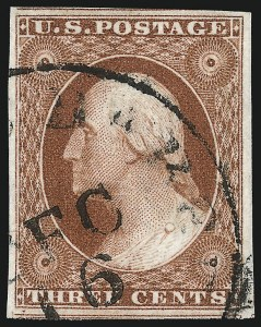 Sale Number 1032, Lot Number 3028, 3c 1851-56 Issue (Scott 10-11A)3c Orange Brown, Ty. II (10A), 3c Orange Brown, Ty. II (10A)