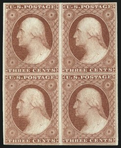 Sale Number 1032, Lot Number 3030, 3c 1851-56 Issue (Scott 10-11A)3c Brownish Carmine, Ty. I (11). Mint N.H, 3c Brownish Carmine, Ty. I (11). Mint N.H