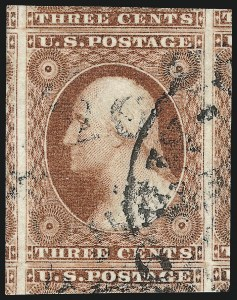 Sale Number 1032, Lot Number 3031, 3c 1851-56 Issue (Scott 10-11A)3c Dull Red, Ty. I (11), 3c Dull Red, Ty. I (11)