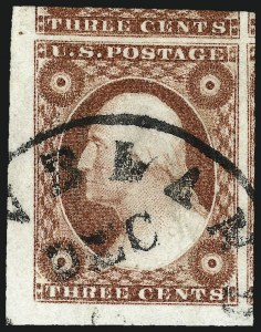 Sale Number 1032, Lot Number 3033, 3c 1851-56 Issue (Scott 10-11A)3c Dull Red, Ty. II (11A), 3c Dull Red, Ty. II (11A)