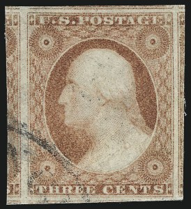 Sale Number 1032, Lot Number 3035, 3c 1851-56 Issue (Scott 10-11A)3c Dull Red, Ty. II (11A), 3c Dull Red, Ty. II (11A)