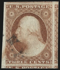 Sale Number 1032, Lot Number 3036, 3c 1851-56 Issue (Scott 10-11A)3c Dull Red, Ty. II (11A), 3c Dull Red, Ty. II (11A)
