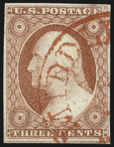 Sale Number 1032, Lot Number 3039, 3c 1851-56 Issue (Scott 10-11A)3c Rose Red, Ty. II (11A), 3c Rose Red, Ty. II (11A)