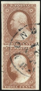 Sale Number 1032, Lot Number 3040, 3c 1851-56 Issue (Scott 10-11A)3c Claret, Ty. II (11A), 3c Claret, Ty. II (11A)