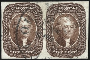 Sale Number 1032, Lot Number 3044, 5c-12c 1851-56 Issue (Scott 12-17)5c Red Brown (12), 5c Red Brown (12)