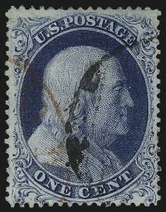 Sale Number 1032, Lot Number 3057, 1c-3c 1857-60 Issue (Scott 18-26A)1c Blue, Ty. Ia (19), 1c Blue, Ty. Ia (19)