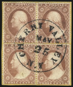 Sale Number 1032, Lot Number 3069, 1c-3c 1857-60 Issue (Scott 18-26A)3c Brownish Carmine, Ty. I, II (25-26), 3c Brownish Carmine, Ty. I, II (25-26)