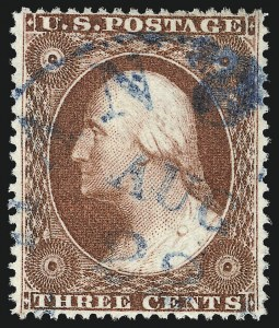 Sale Number 1032, Lot Number 3075, 1c-3c 1857-60 Issue (Scott 18-26A)3c Brownish Carmine, Ty. IV (26A), 3c Brownish Carmine, Ty. IV (26A)